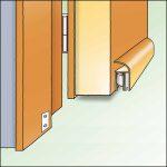 Türbodendichtung mit Absenkautomatik für vor die Tür