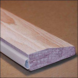 Türschwelle aus Holz mit Dichtung | Gegen Zugluft für Altbautüren