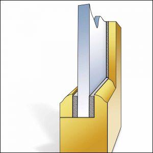 Vorlegeband   Schutz zwischen Glas und Rahmen