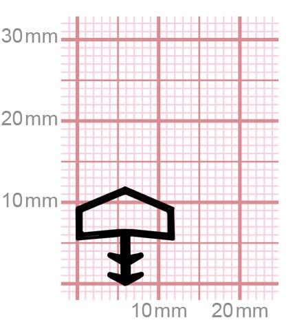 Holzzargendichtung für Zimmertüren   009-10