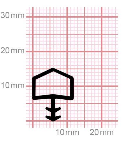 Holzzargendichtung für Zimmertüren   009-13