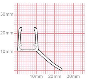 Duschdichtung   6-8 mm Glasstärke   019-06