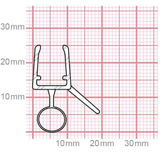 Duschdichtung | 6-8 mm Glasstärke | 019-08