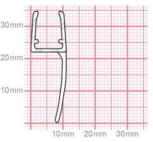 Duschdichtung   6-8 mm Glasstärke   019-09