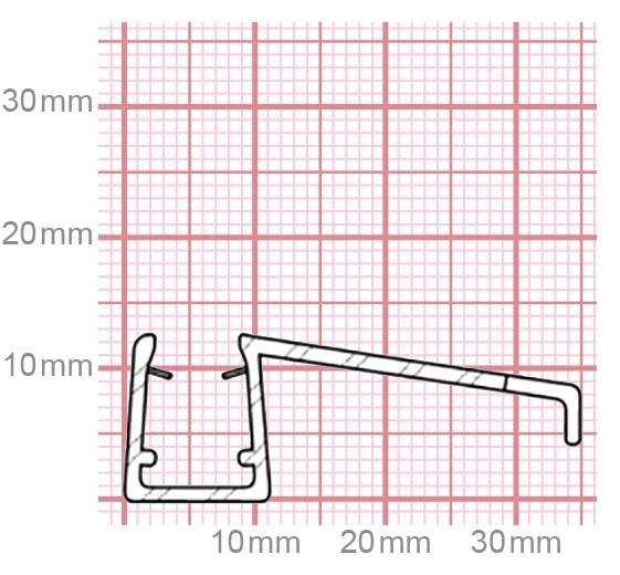 Duschdichtung | 6-8 mm Glasstärke | 019-11