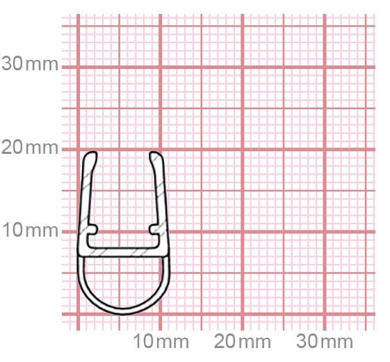 Duschdichtung | 6-8 mm Glasstärke | 019-12