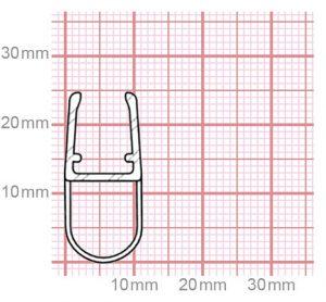 Dichtung Duschkabine   6-8 mm Glasstärke   019-13