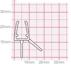Duschdichtung   4,8-5 mm Glasstärke   019-15