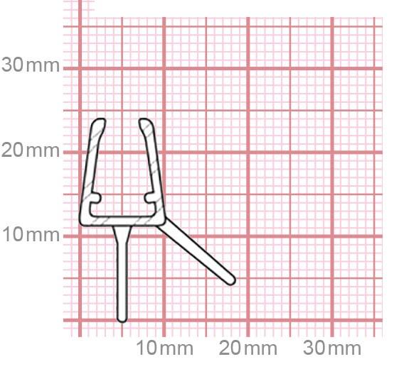 Duschdichtung | 4,8-5 mm Glasstärke | 019-15