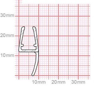 Duschdichtung   4,8-5 mm Glasstärke   019-16
