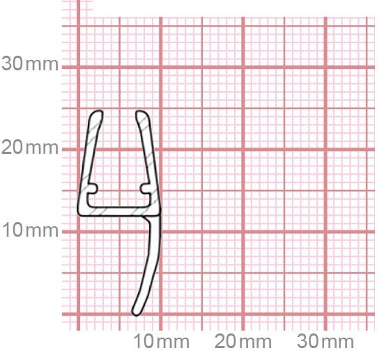 Duschdichtung | 4,8-5 mm Glasstärke | 019-16