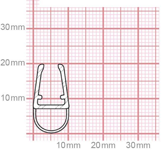 Duschdichtung | 4,8-5 mm Glasstärke | 019-18