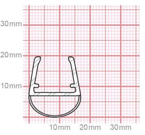 Dichtung Duschkabine | 10-12 mm Glasstärke | 019-19