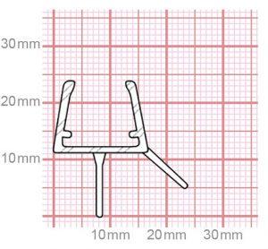 Dichtung Duschkabine | 10-12 mm Glasstärke | 019-21