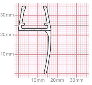 Dichtung Duschkabine   10-12 mm Glasstärke   019-22