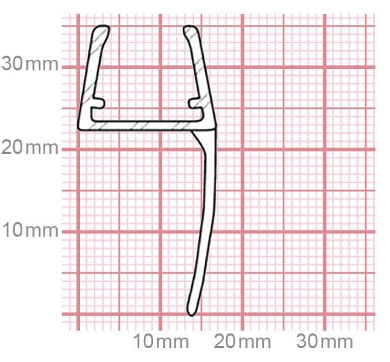 Dichtung Duschkabine | 10-12 mm Glasstärke | 019-22