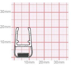 Dichtung Duschkabine   Mit Magnet   6-8 mm Glasstärke   019-23