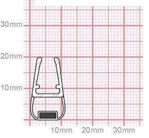 Duschdichtung mit Magnet | 4,8-5 mm Glasstärke | 019-25