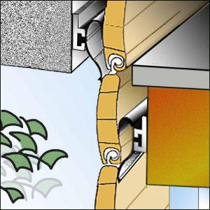 Rollladen mit eingebauter Rollox-Schiene