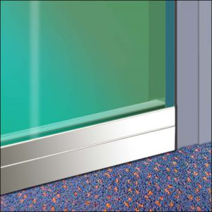 Schutzplatte Cassette-Elegance an Glastür-Gegenseite