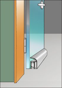 Absenkdichtungen mit Absenkautomatik für Glastüren