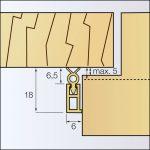 Abdichtungsschiene aus Kunststoff | Zargo 2L18