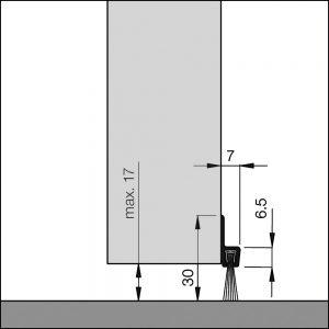 Dollexs4-IBS 32 mit Bürste für Garagentore, Hallentore, Schwingtore