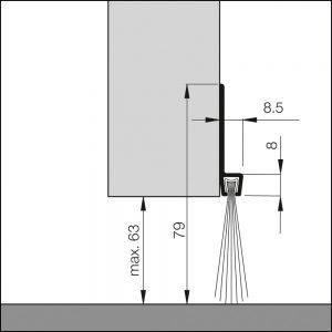 Abdichtung Garagentore, Hallentore, Schwingtore | Dollexs4-IBS 80 |