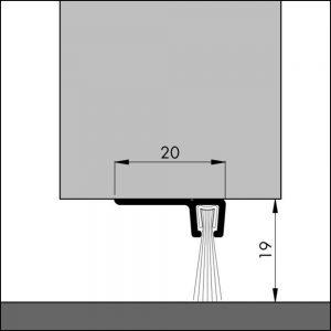 Bodendichtung, Winkelschiene mit Bürstendichtung | Dollex6 IBS 90-18