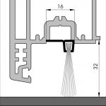 Bodendichtung für Garagentore, Winkelschiene mit Bürste   Dollex6 IBS 90-18  
