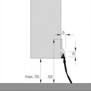 Dichtung für Garagentore mit Gummilippe   Dollexs5 IBS-35