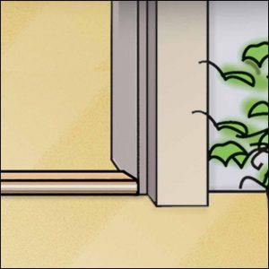 Die Türschwelle - dichtet perfekt den Spalt unter dem Türblatt