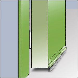 Zargo B transparent - Selbstklebend. Perfekte farbliche Anpassung an den Untergrund. Für verschiedene Spalt-Höhen