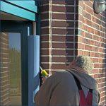 Klemmschutz an der Tür in blau - Kita-Max