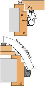 Athmer Fingerschutz Nr 30 Querschnitt Gegenbandseite