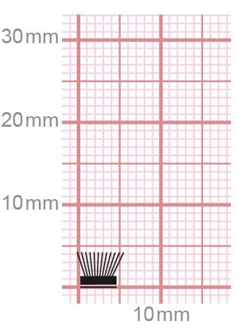 Selbstklebend 032-54-gr / grau 4 mm = Bürstenhöhe 6,7 mm = Fußbreite