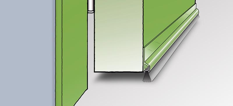 Zugluftstopper Tür - Bodendichtung
